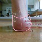 踵が脱げやすい原因は足の狂い